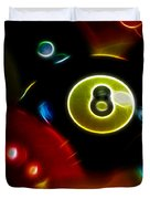 Behind The Eight Ball - Electric Art Duvet Cover by Wingsdomain Art and Photography