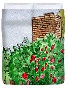 Behind The Fence Sketchbook Project Down My Street Duvet Cover by Irina Sztukowski