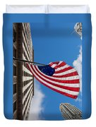 Betsy Ross Flag In Chicago Duvet Cover by Semmick Photo