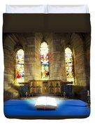 Bible In Church Duvet Cover by John Short