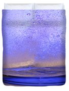 Bicarbonate Of Soda Dissolving In Water Duvet Cover by Photo Researchers, Inc.