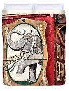 Big Top Elephants Duvet Cover by Kristin Elmquist