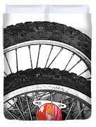 Big Wheels Keep On Turning Duvet Cover by Jerry Cordeiro