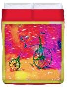 Bike 1a Duvet Cover by Mauro Celotti