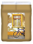 Bike Window Duvet Cover by Carlos Caetano