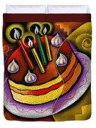 Birthday  Cake  Duvet Cover by Leon Zernitsky