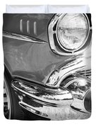 Black and White 1957 Chevy Duvet Cover by Steve McKinzie