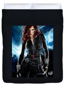 Black Widow Duvet Cover by Tom Carlton