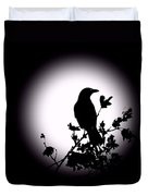 Blackbird In Silhouette  Duvet Cover by David Dehner