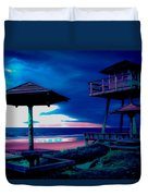 Blacklight Tower Duvet Cover by DigiArt Diaries by Vicky B Fuller