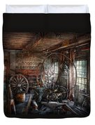 Blacksmith - That's A Lot Of Hoopla Duvet Cover by Mike Savad