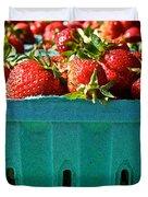 Blue Box Duvet Cover by Susan Herber