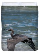 Blue On The Beach Duvet Cover by David Lane