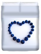 Blueberry Heart Duvet Cover by Julia Wilcox