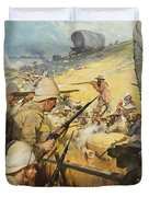 Boer War Skirmish Duvet Cover by James Edwin McConnell