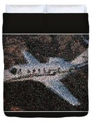 Bottle Cap Cessna Citation Mosaic Duvet Cover by Paul Van Scott