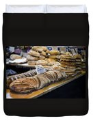 Bread Market Duvet Cover by Heather Applegate