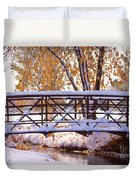 Bridge Over Icy Waters Duvet Cover by James BO  Insogna