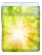 Bright Background Duvet Cover by Les Cunliffe