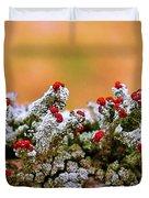 British Soldier Lichen Duvet Cover by Judi Bagwell