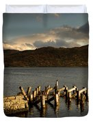 Broken Dock, Loch Sunart, Scotland Duvet Cover by John Short