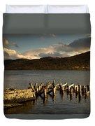 Broken Dock, Loch Sunart, Scotland Duvet Cover by John Short