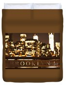 Brooklyn Bubbly Duvet Cover by Andrew Paranavitana