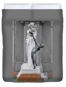 Brunnenbuberl - Boy At The Fountain -  Munich Germany Duvet Cover by Christine Till