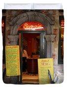 Brussels - Restaurant Savarin Duvet Cover by Carol Groenen