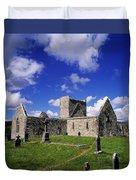 Burrishoole Friary, Co Mayo, Ireland Duvet Cover by The Irish Image Collection