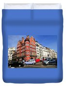 Busy Street Corner In London Duvet Cover by Elena Elisseeva