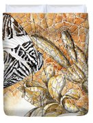 Butterfly Mosaic 02 Elena Yakubovich Duvet Cover by Elena Yakubovich