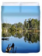 By The River Duvet Cover by Kaye Menner