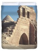 Byzantine Ruins Duvet Cover by Photo Researchers, Inc.