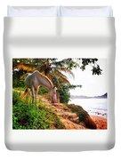Caballo Blanco Duvet Cover by Skip Hunt