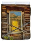 Cabin Windows Duvet Cover by Jeff Kolker