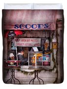 Cafe - Clinton Nj - The Luncheonette  Duvet Cover by Mike Savad