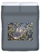 Camouflaged Gator Duvet Cover by Carol Groenen