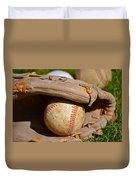 Can Of Corn Duvet Cover by Bill Owen