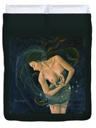 Cancer From Zodiac Series Duvet Cover by Dorina  Costras