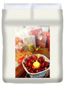Candle And Balls Duvet Cover by Carlos Caetano