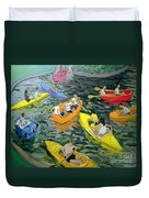 Canoes Duvet Cover by Andrew Macara