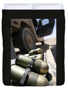 Cans Of Opened 40 Mm Grenades Duvet Cover by Stocktrek Images