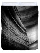 Canyon Curves in Black and White Duvet Cover by Christine Till