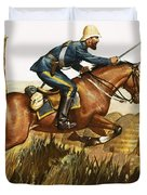 Captain Beresford in The Zulu Wars Duvet Cover by James Edwin McConnell