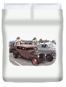 Car Show 1928 Duvet Cover by Steve McKinzie