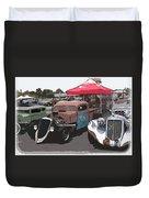 Car Show Hot Rods Duvet Cover by Steve McKinzie