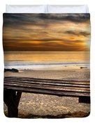Carcavelos Beach Duvet Cover by Carlos Caetano