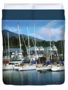 Carlingford Marina, Carlingford, County Duvet Cover by The Irish Image Collection