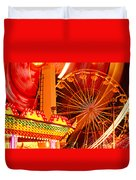 Carnival lights  Duvet Cover by Garry Gay
